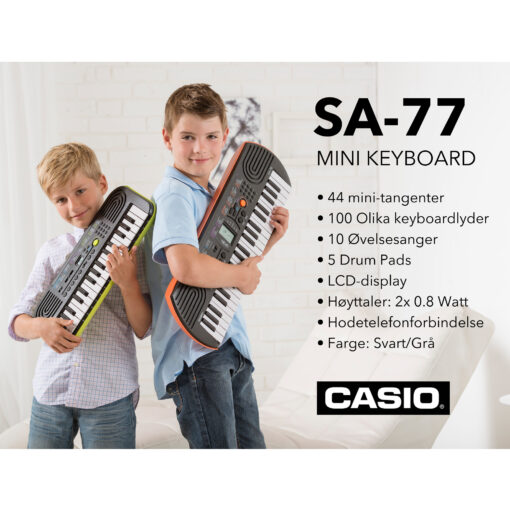 Keyboard, CASIO SA-77 - Pianomagasinet