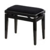 Pianopall i blank svart med höj- och sänkbar funktion - Pianomagasinet
