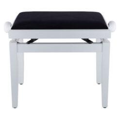 Pianopall i blank vit med höj- och sänkbar funktion - Pianomagasinet