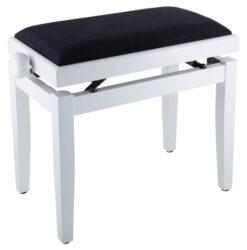 Blank vit pianopalla med höj- och sänkbar funktion