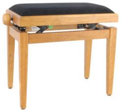 Pianopall i satinerad ek med höj- och sänkbar funktion