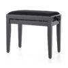 Pianopall i matt svart med höj- och sänkbar funktion - Pianomagasinet
