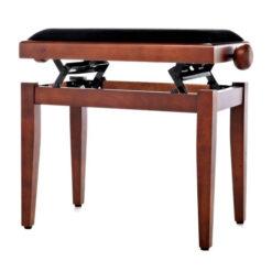 Pianopall i satinerad valnöt med höj- och sänkbar funktion - Pianomagasinet