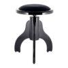 Rund pianopall i blank svart med höj- och sänkbar funktion - Pianomagasinet