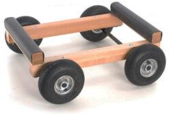 Pianovagn med luftfyllda hjul