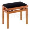 Pianopall i matt lönn med höj- och sänkbar funktion