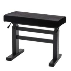 JAHN hydraulisk pianopall i matt svart och sittdyna i svart velour - Pianomagasinet