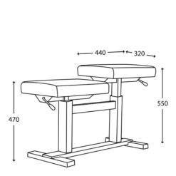 JAHN hydraulisk pianopall för två personer - Pianomagasinet