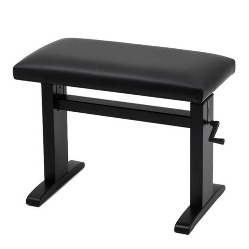 JAHN hydraulisk pianopall i blank svart med vevhandtag - Pianomagasinet