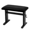 JAHN hydraulisk pianopall i matt svart med vevhandtag, svart velour - Pianomagasinet