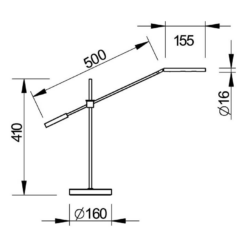 """Flygellampa """"Capiccio"""" med LED-belysning i matt svart - Pianomagasinet"""