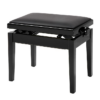 Pianopall med konsertmekanism i blank svart - Pianomagasinet