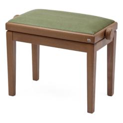 Pianopall i ek med sittdyna i äppelgrön velour - Pianomagasinet