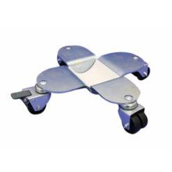 Flygelhjul i silver med bromsade plasthjul - Pianomagasinet