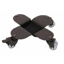 Svart flygelhjul med broms med kullagerhjul i gummi som inte lämnar märken - Pianomagasinet