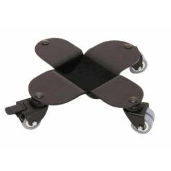 Svart flygelhjul med broms med hjul i gummi som inte lämnar märken - Pianomagasinet