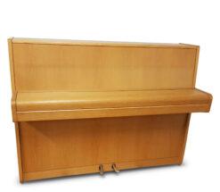 Akustiskt piano, Nordiska Piano modell Futura i ljus ek - Pianomagasinet