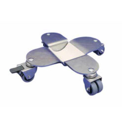 Flygelhjul i silver med bromsade polyuretanhjul - Pianomagasinet